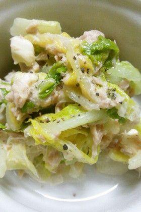 白菜とシーチキンのマヨネーズサラダ