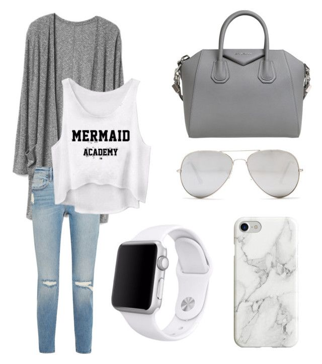 """""""Grey outfit"""" by greta-di-giovanni on Polyvore featuring moda, Frame, Givenchy, Sunny Rebel, Apple e Recover"""