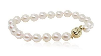 This classic Akoya pearl bracelet with 9ct yellow gold clasp will delight your mum or wife on Mother's Day- Find it at Walker and Hall!