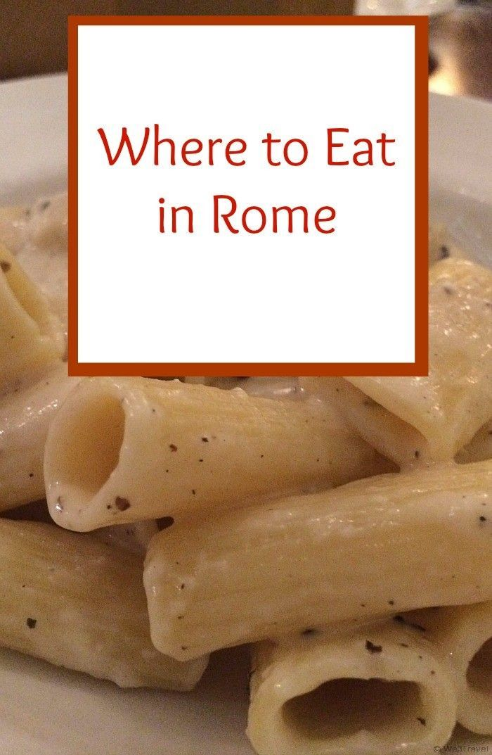 Where to eat in Rome and some of Rome's must-try foods (it isn't all pasta!) -- this is a helpful round up of non-touristy restaurants in Rome!