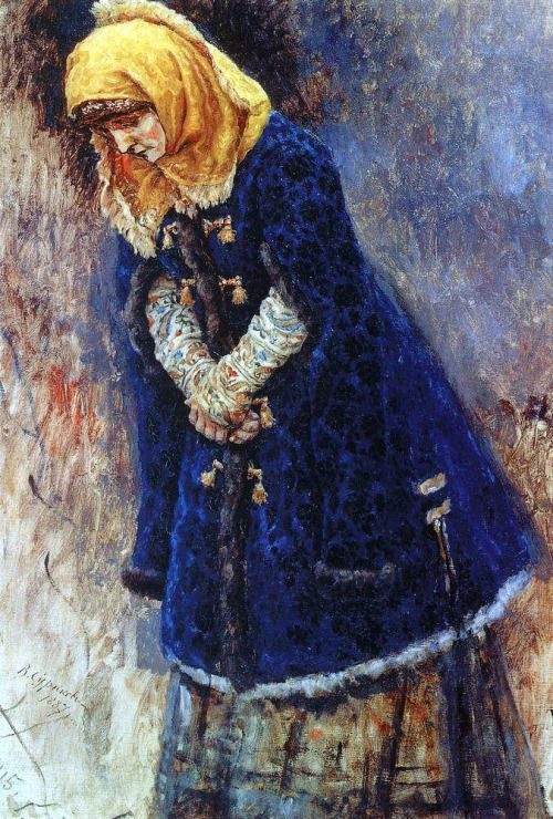 Vasily Surikov - Young Lady in a Blue Coat