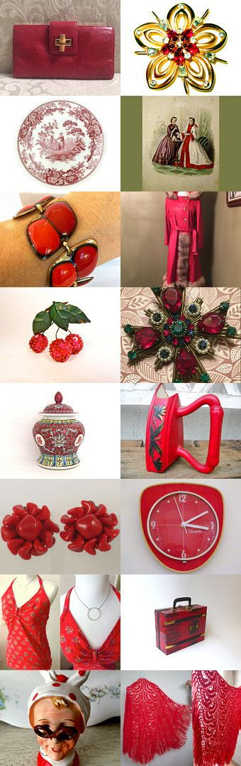 Ravishing Red   Vintage Explosion by Vanessa on Etsy--Pinned+with+TreasuryPin.com