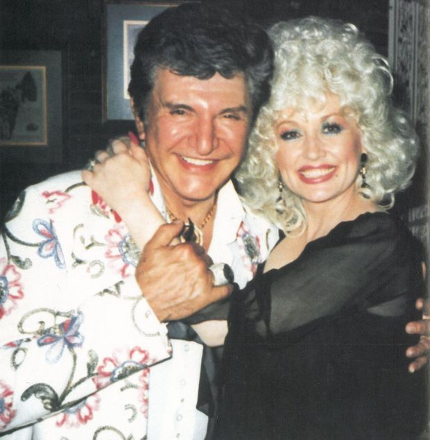 Las Vegas Entertaining Legend Liberace with Dolly Parton in 1982