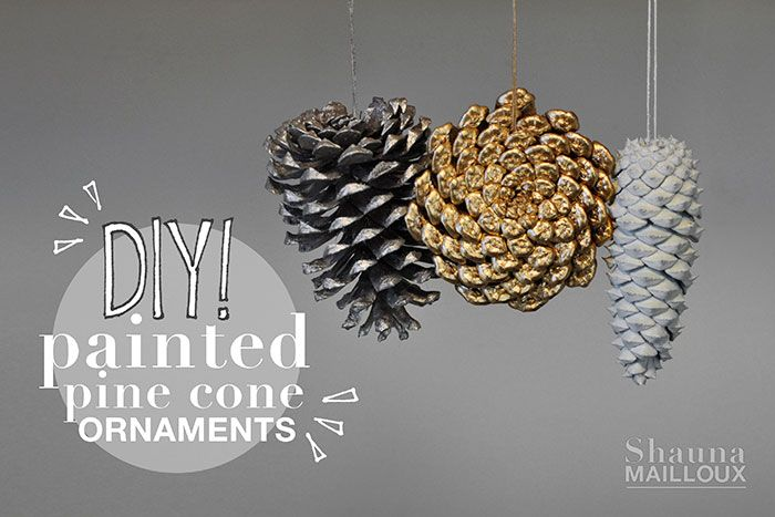 DIY Painted Pine Cone Ornaments