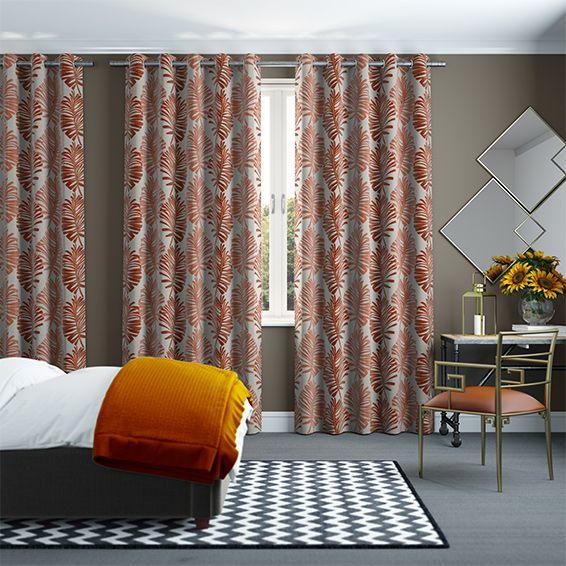 Go Bold And Do It With Gusto With The Amazonia Vibrant Orange Curtains.  Letting Them. Orange CurtainsBedroom SanctuaryBath IdeasFlower ...