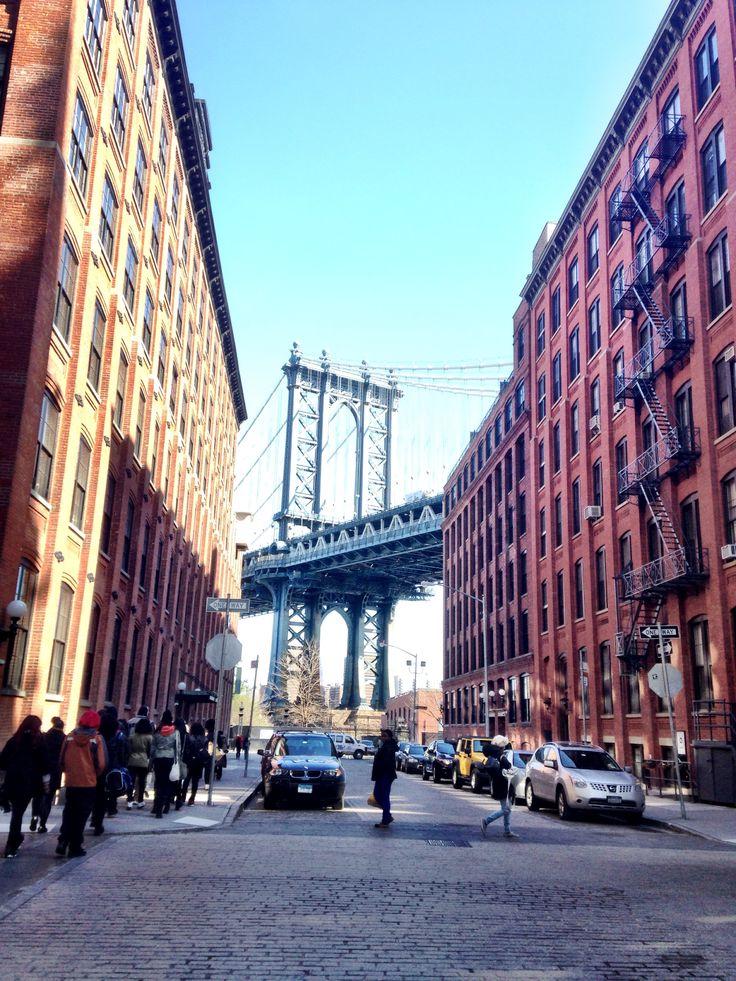 Water street, Dumbo, Brooklyn, New York city