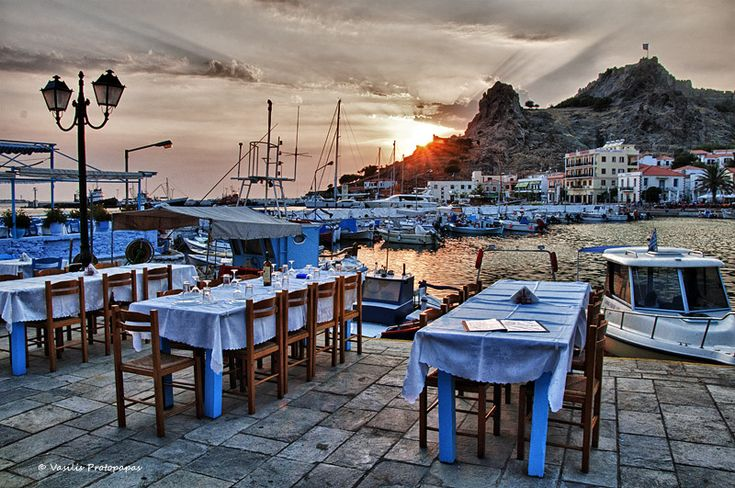 Dinner under the castle - Lemnos Island, Lesvos
