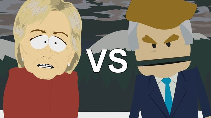 Donald Trump vs Hillary Clinton - ERB animated (2016 presidential election)