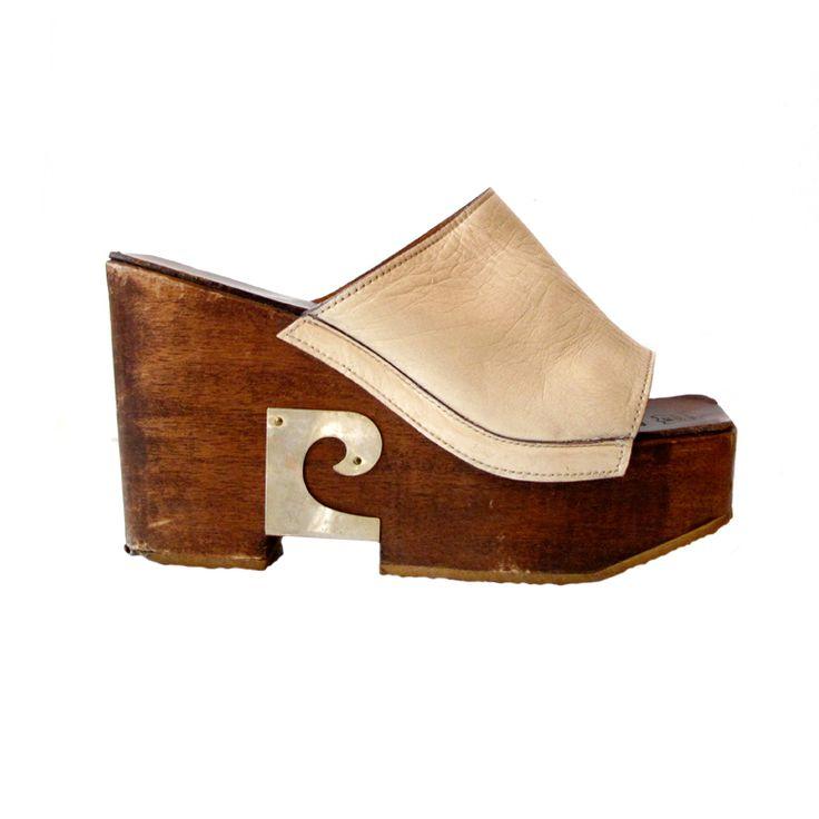 1st Dibs | wooden wedge | PIERRE CARDIN