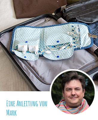 Patrón de costura gratuito e instrucciones: Coser en la bolsa de viaje con cable
