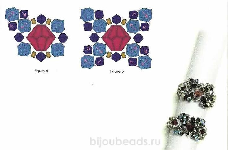 Easy FREE Tutorial for VINTAGE ELEGANCE Components for Earrings/Ring/Bracelet. In Russian with diagrams. Page 2 of 2