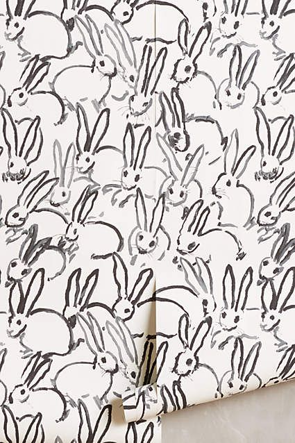 Bunny Day Wallpaper by Hunt Slonem. anthropologie.com
