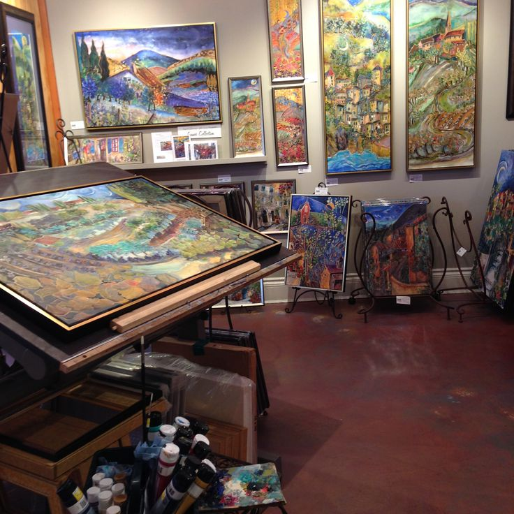 The studio space in my Gallery in Ganges, Salt Spring Island. Jill Louise Campbell