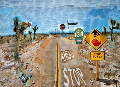 Pearblossom Highway, 11-18 April 1986 1 by David Hockney                                                                                                                                                                                 Plus