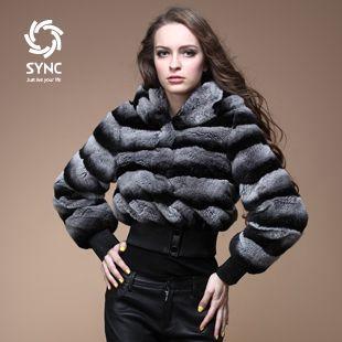 Popular New fur coat,Fashion Chinchilla style rex rabbit fur coat,Elegant Women's rex rabbit fur jacket coat free shipping FS01J