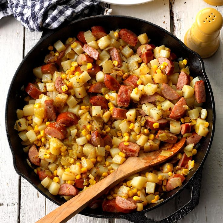 Campfire Hash Recipe -In our area we are able to camp almost all year-round. My family invented this recipe using ingredients we all love so we could enjoy them on the campfire. This hearty meal tastes so good after a full day of outdoor activities. —Janet Danilow, Winkleman, Arizona