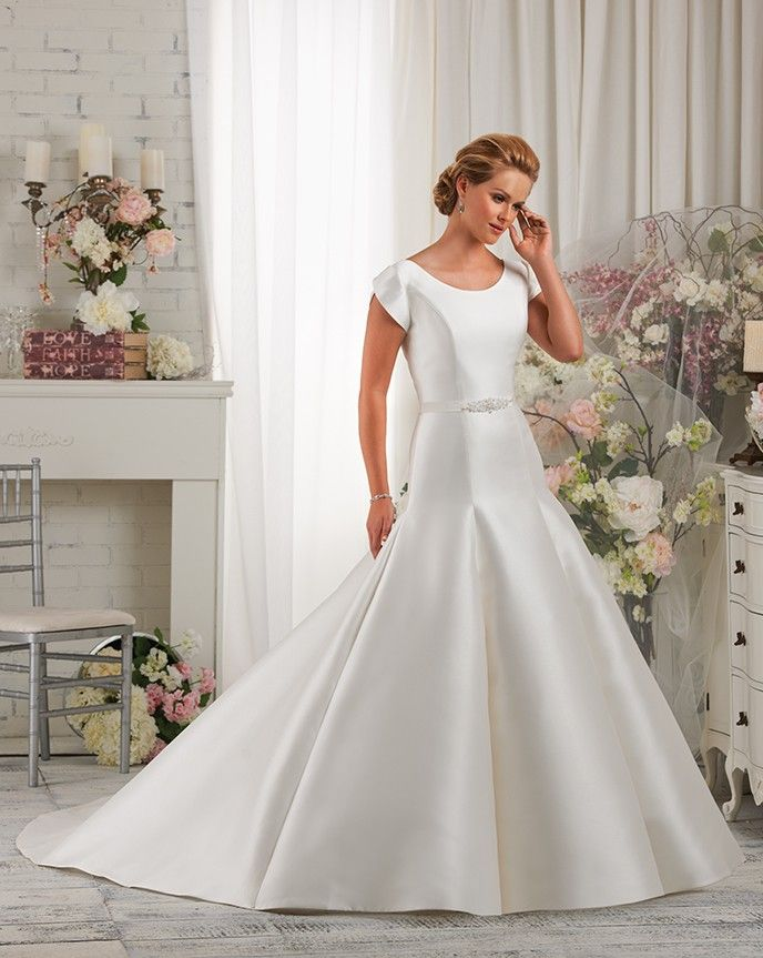 87 best find your modest gown images on pinterest modest for Tulip wedding dress style