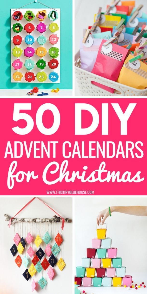 50 Gorgeous Diy Advent Calendar Ideas Christmas Pinterest