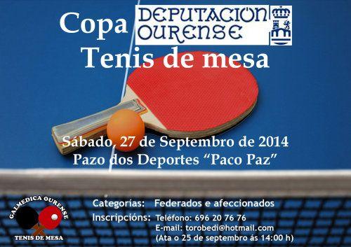 Copa Deputación Ourense Tenis de Mesa en Pazo Dos Deportes Paco Paz, Ourense