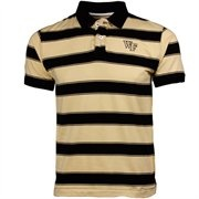 Wake Forest Demon Deacons Youth Black-Gold Tyler Stripe Polo
