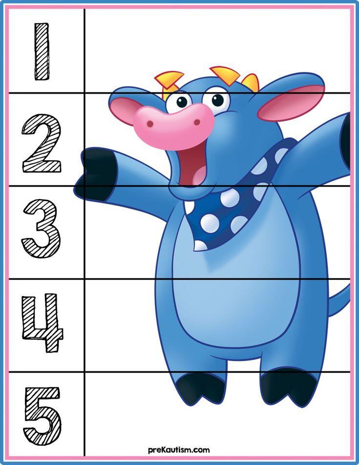 FREE! Dora the Explorer Number Puzzle