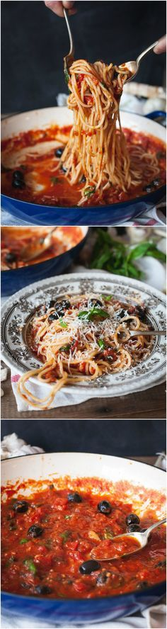 Spaghetti Puttanesca is an Italian classic and one of the easiest pasta sauces you should know how to make!