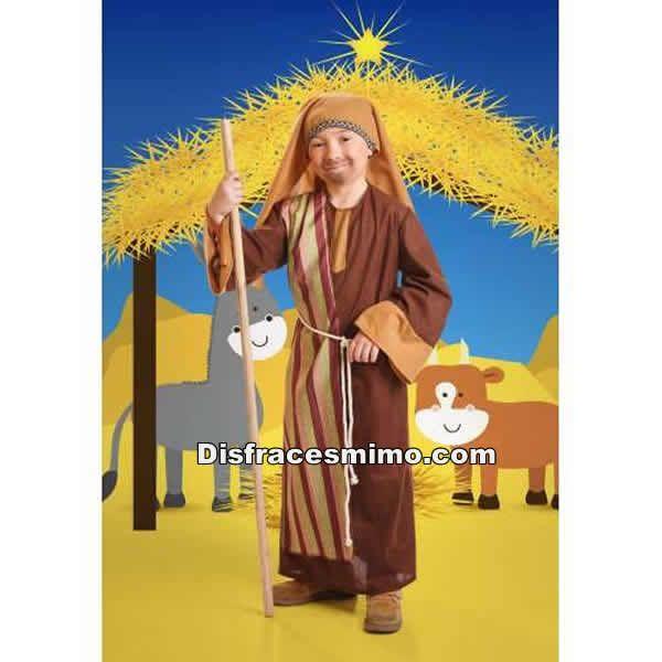 Tu mejor disfraz de san jose para niños infantiles 5 a 6 años.convertirá a tu niño en el padre adoptivo de Jesús de Nazaret. Conviérte al más pequeño de la casa en uno de los protagonistas de la Navidad en Belenes o Nacimientos Vivientes.Este disfraz es ideal para tus fiestas temáticas de disfraces de navidad para niños infantiles.