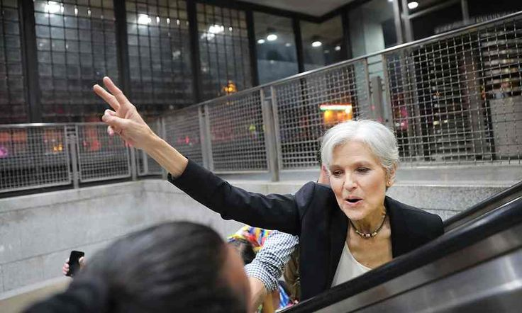 Green party presidential candidate Jill Stein in Philadelphia.
