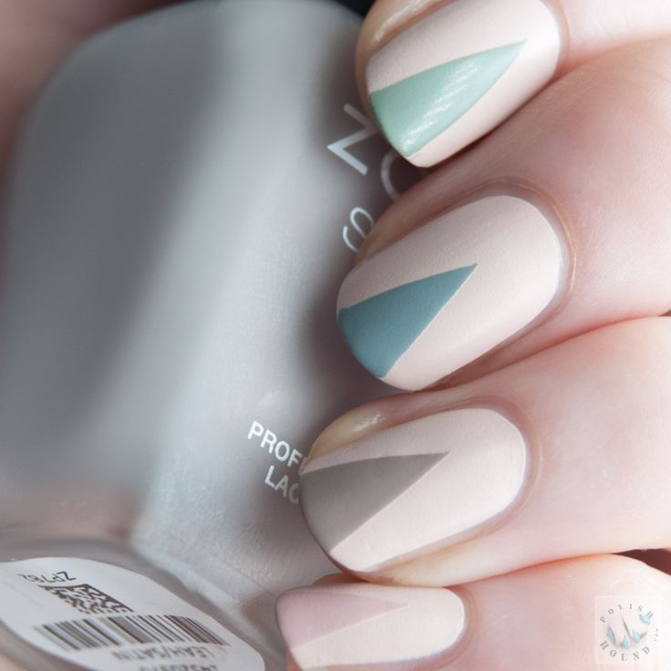 Polish Hound: Taped Triangle Tips with Zoya Naturel Satins [Nail Art] - The 25+ Best Triangle Nail Art Ideas On Pinterest Triangle Nails