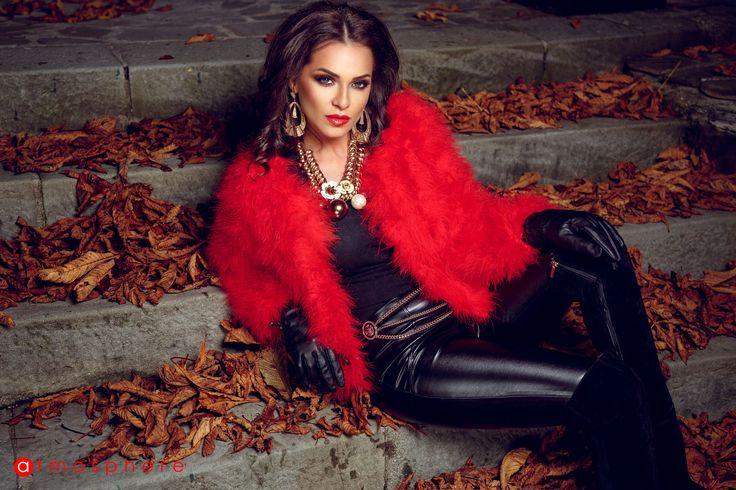 Jacheta din pene de strut 1201r rosu #geaca #jacheta
