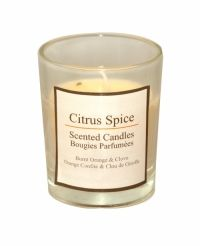 Sil Citrus Spice Scented Mini Candle A burnt orange and clove scented citrus mini candle. Approximately 5 x 6cm in size