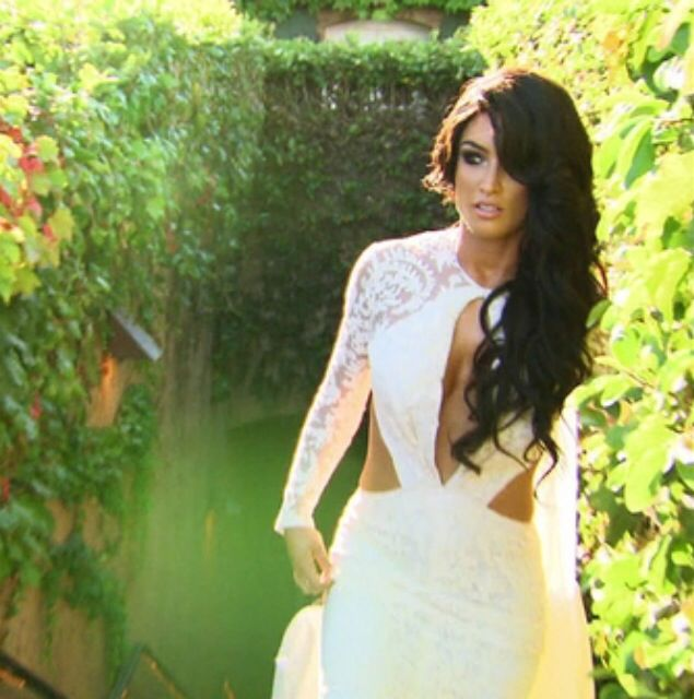 Eva Marie, total diva. Her hair and makeup on her wedding day.