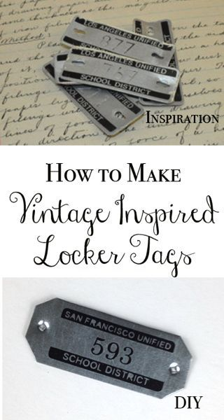 How to make vintage inspired locker tags.. out of roof flashing!