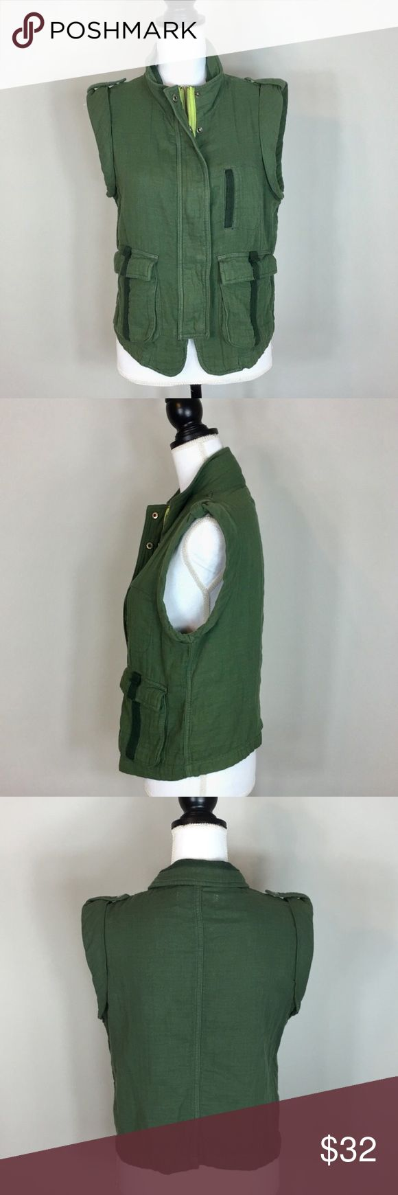 ❗️Urban Outfitters Ecote Army Green Vest MSRP $78! ❗️Urban Outfitters Ecote Army Green Vest. Retails $78. Size large. Good condition. Feel free to make an offer! I'm selling to the first good offer I receive. Discounts on bundles! Huge New Year Clearout Sale! All must go ;-) Urban Outfitters Jackets & Coats Vests