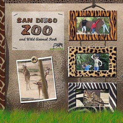 scrapbooking zoo