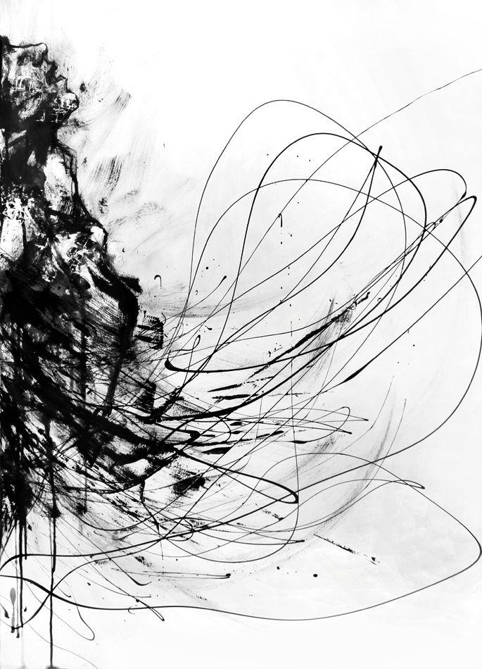 a cecille Disfruta fent línies, ratllots i taques concentrades en una de les parts del full de paper sense pensar en què estàs dibuixant.