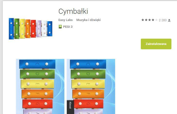 CYMBAŁKI - SUPER   https://play.google.com/store/apps/details?id=com.easylabs.xylophone