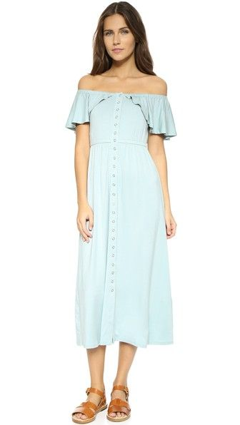 ¡Cómpralo ya!. Rachel Pally Preston Dress - Misty. An understated Rachel Pally maxi dress with an off shoulder silhouette. Gathered elastic waistband. Elastic neckline. Sleeveless. Snap placket. Unlined. Fabric: Jersey. 92% modal/8% spandex. Dry clean. Made in the USA. Measurements Length: 43.75in / 111cm, from shoulder Measurements from size S. Available sizes: L,M,S,XS , vestidoinformal, casual, informales, informal, day, kleidcasual, vestidoinformal, robeinformelle, vestitoinformale…