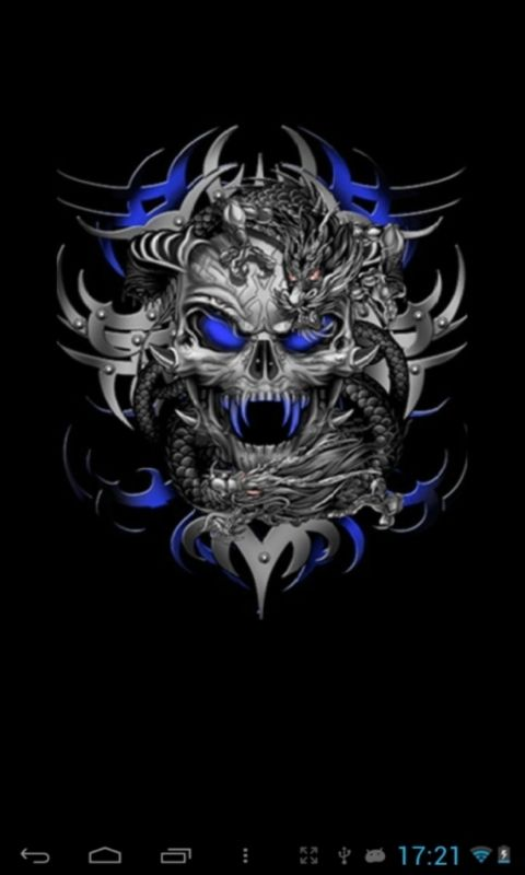 pics of skulls | skull live wallpapers in this live wallpaper a skull that flashes in ...