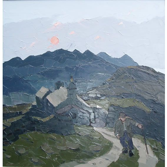 Penrhiwiau Cilgwyn, painting by Kyffin Williams