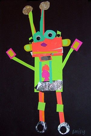 Adapt this art lesson for teaching 2D shapes. Lots of cool pics of art project ideas here.