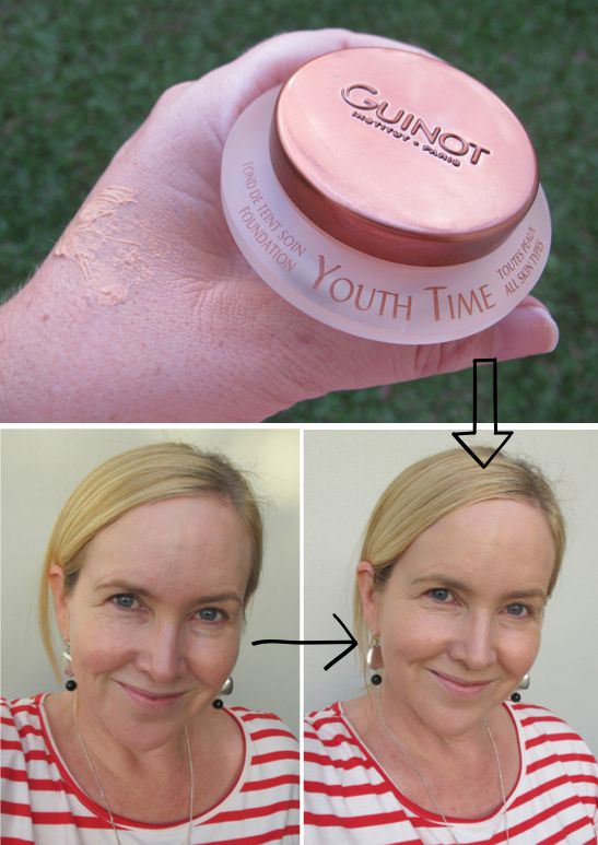 Guinot Youth Time Anti Ageing Foundation - before and after