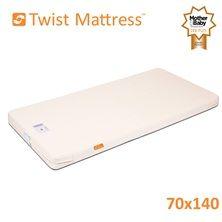 Twist Natural Latex Cot Bed Mattress 70x140cm
