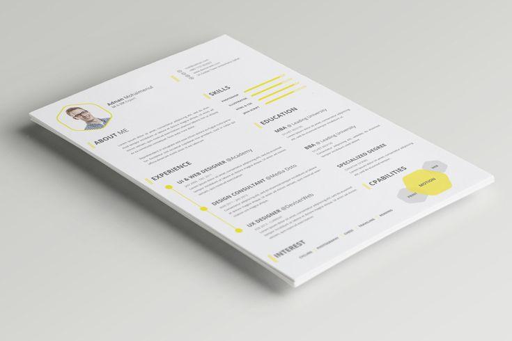 PSD CV/Resume Template gratuito de PSDboom