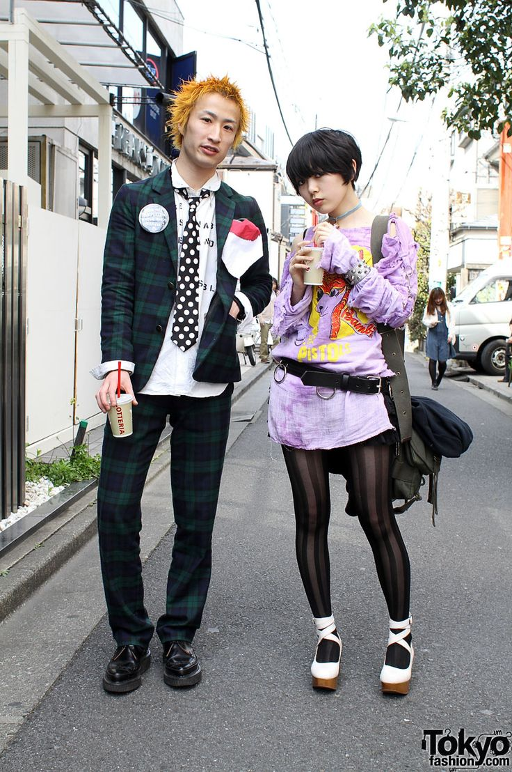 Japanese street fashion - retro punk