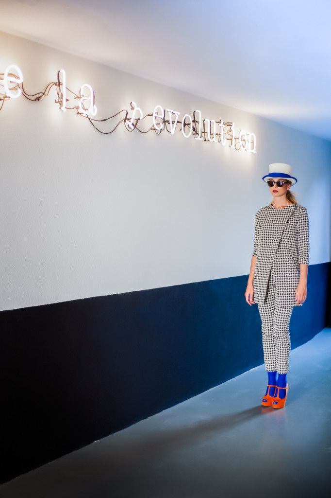 #Fashion #Campaign #FallWinter 2014/2015   #hopperfactory #tweed #coral #shoes #hat #model #style #ootd #whitephotoroma Fall Winter 2014/2015  