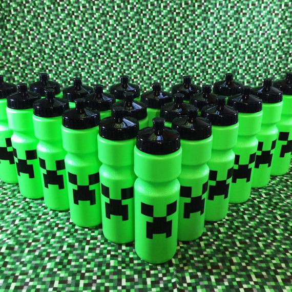 Minecraft Creeper Birthday Party favors Minecraft by BabyRozen