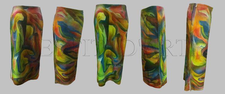 HAND PAINTED SKIRT for womens clothing long skirt maxi skirt boho skirt long denim skirt maxi dress pencil skirt womens skirt african skirt by Vestitidarte on Etsy