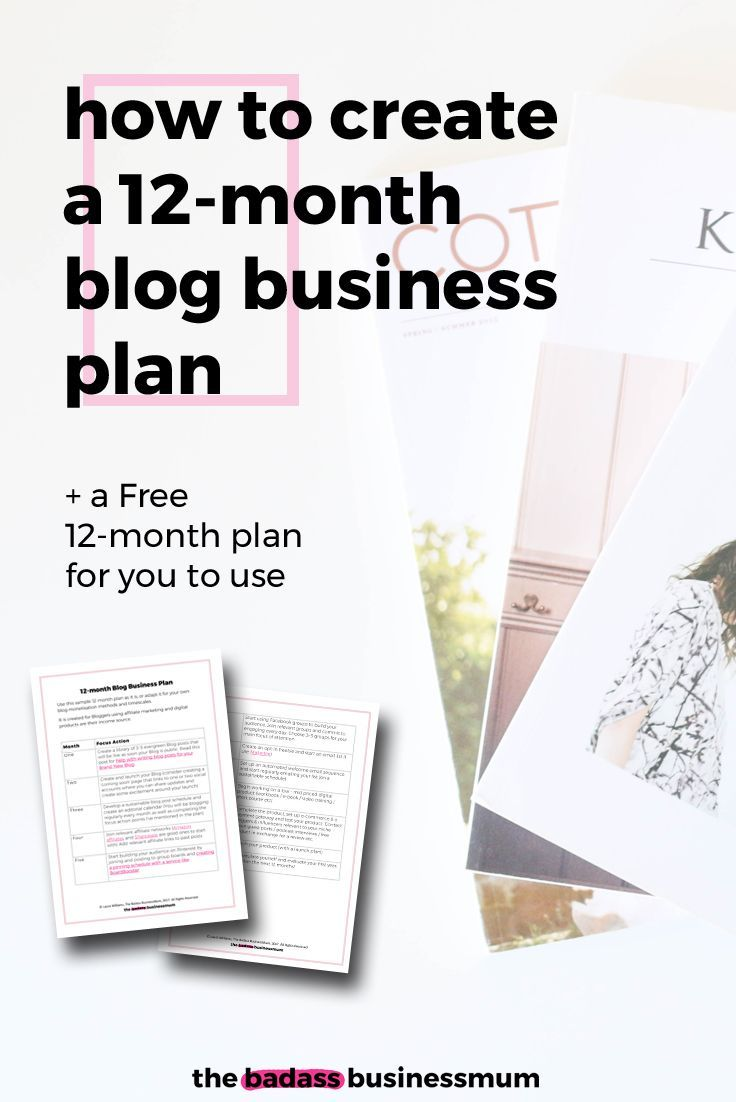 Find out how to make your own 12-month Blog Business Plan (or just use the Free one I've already made!)