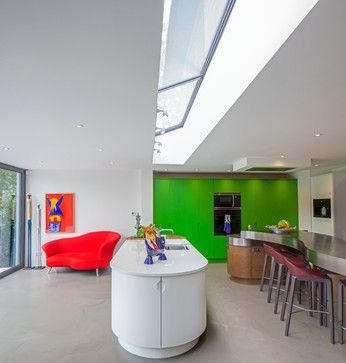 Extension to a 1950's House in Radlett - contemporary - Kitchen - South East - Thompson Bradford Architects Ltd